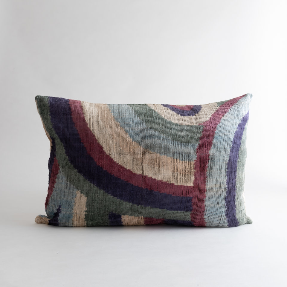 Purple Haze Silk + Velvet Lumbar Pillow Cover