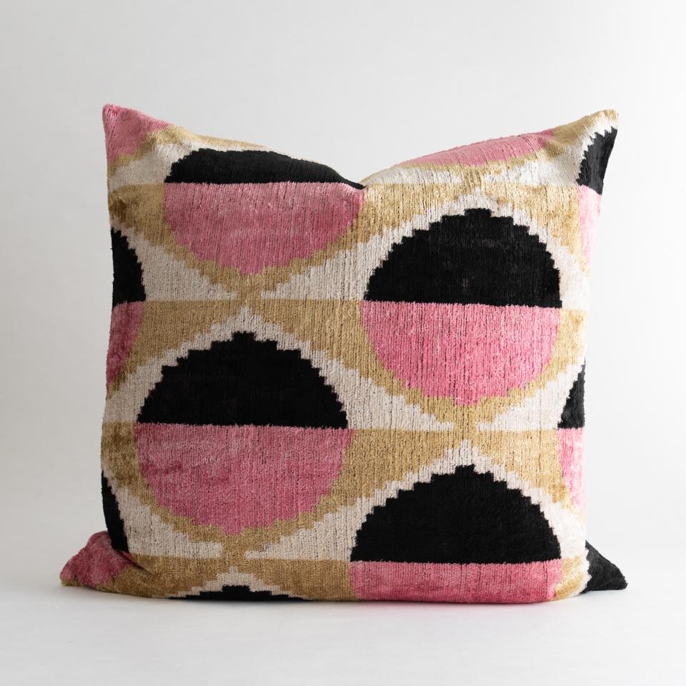 """Goldie Silk + Velvet 24"""" Pillow Cover"""