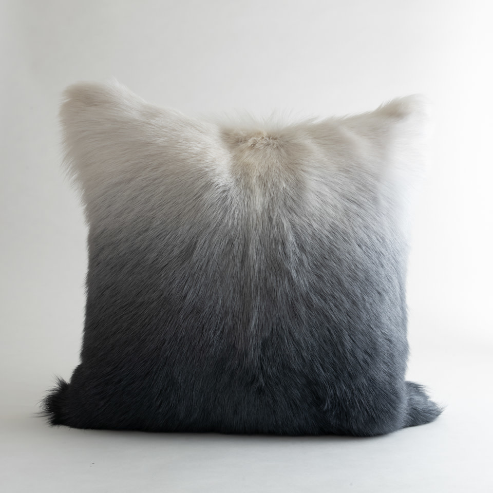 Billy Ombre White & Grey Pillow 23x23
