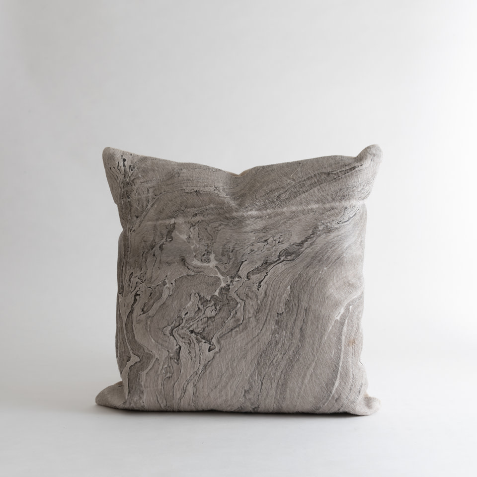 Melange Leather Pillow