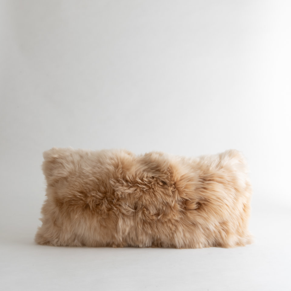 Alpaca Microsuede Linen Lumbar Pillow