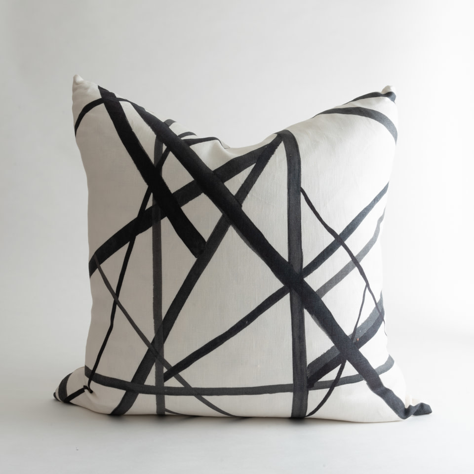 Kelly Wearstler Channels Ebony Pillow