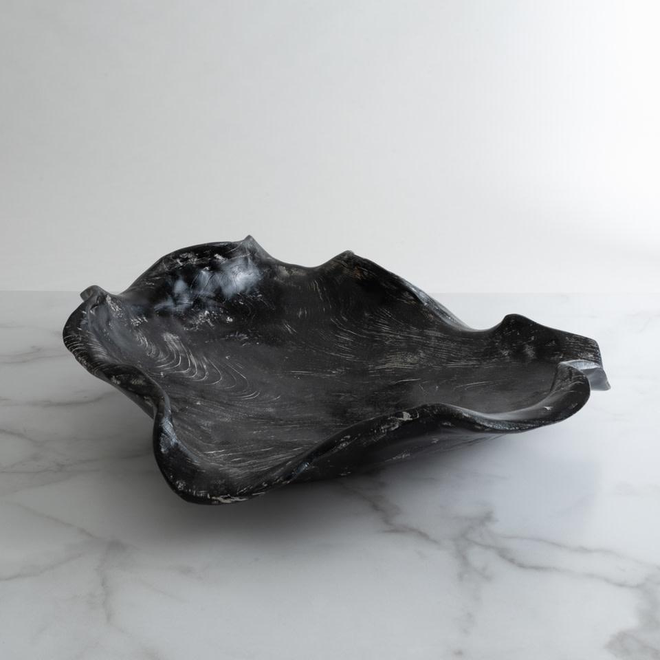 Large Bali Wood Bowl Black