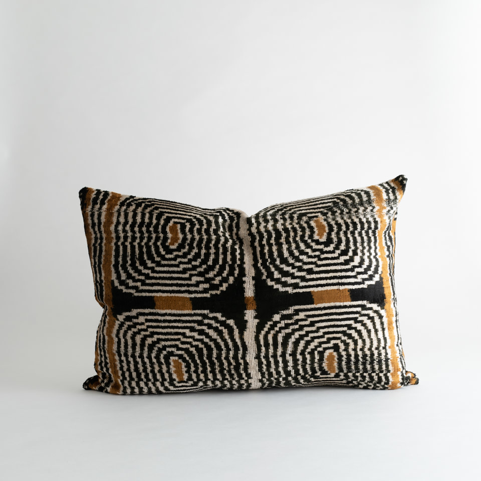 Bongo Silk + Velvet Lumbar Pillow Cover