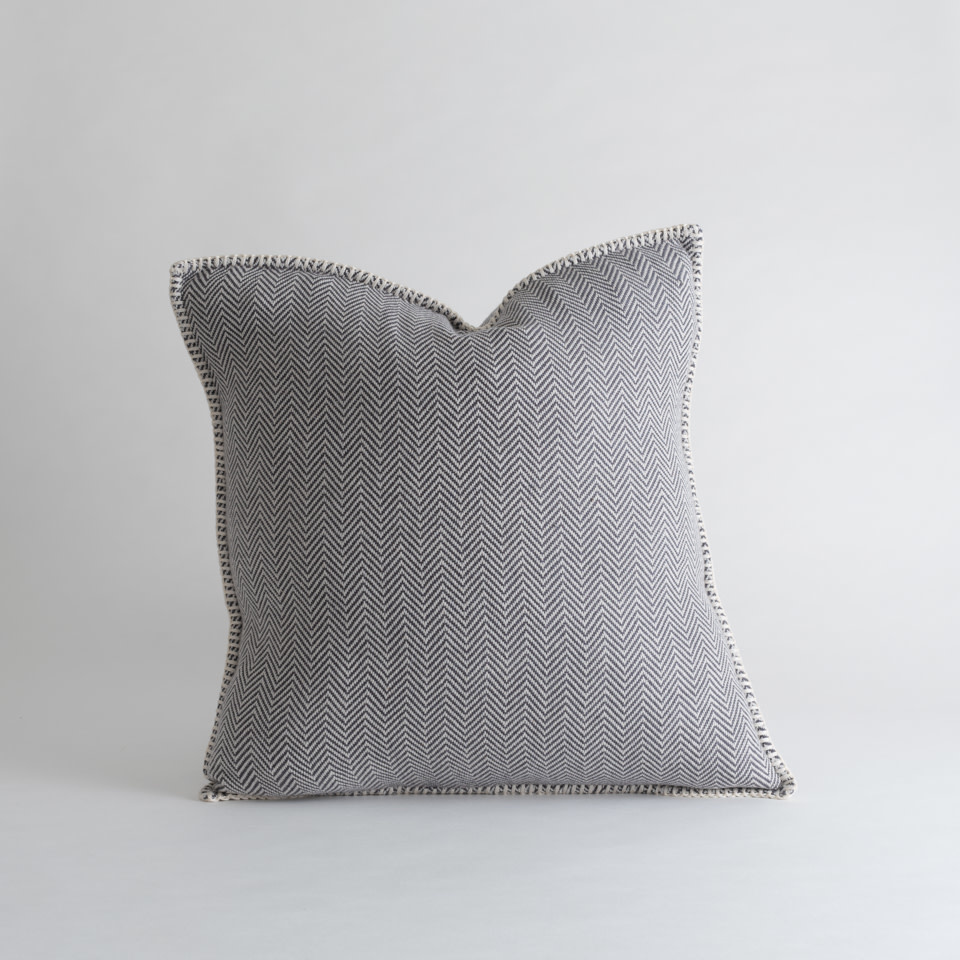"Zig Zag 18"" Pillow Dark Grey"