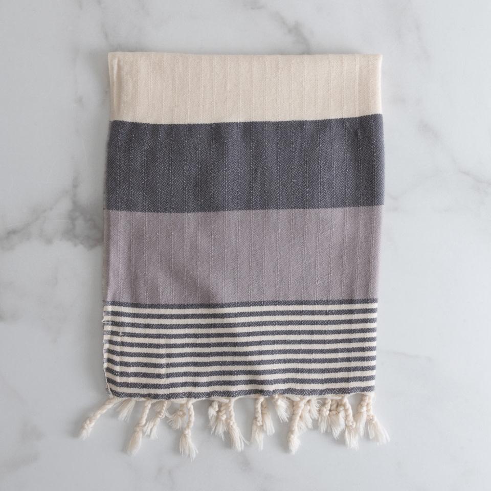 Fringe Kitchen Towel {Dusty Lilac + Night Sky}