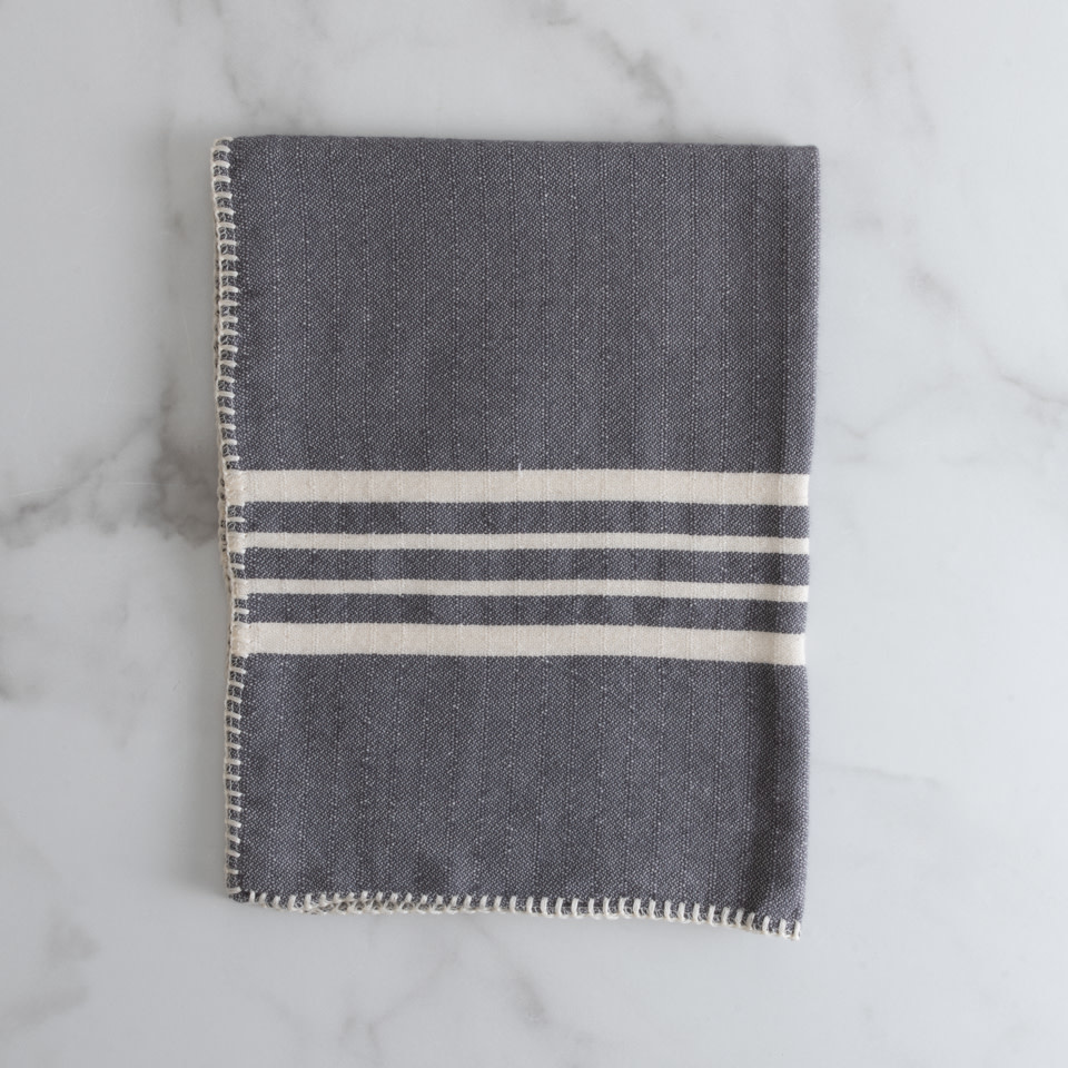 Farmhouse Kitchen Towel Dark Grey