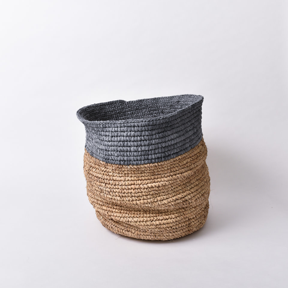 Dip Dyed Natural Seagrass Basket