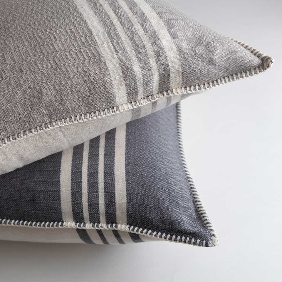 Farmhouse Pillow Cover {Iron Stripe}