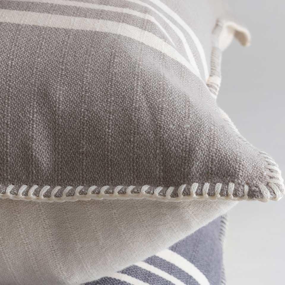 Farmhouse Pillow Cover {Taupe Stripe}