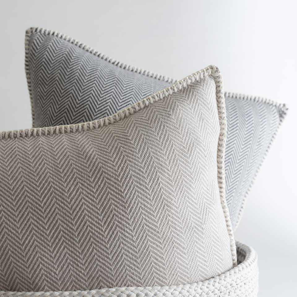 """Zig Zag 18"""" Pillow Cover {Taupe}"""