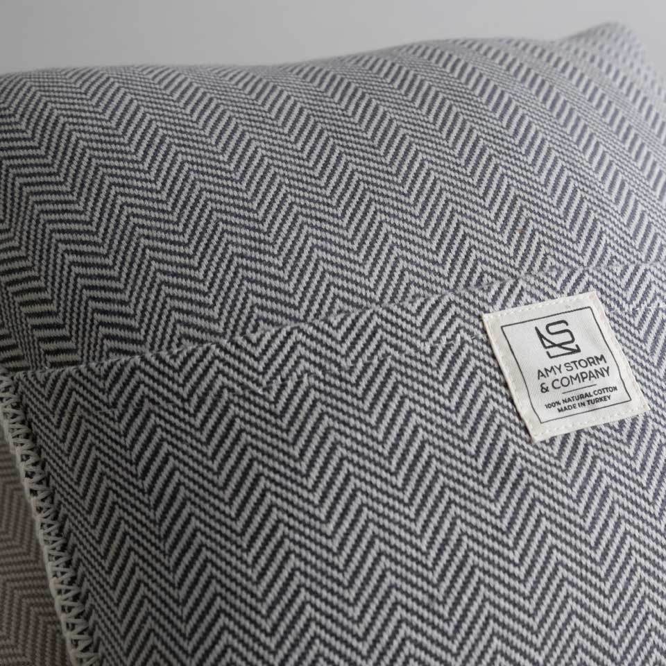 "Zig Zag 18"" Pillow Cover Iron"
