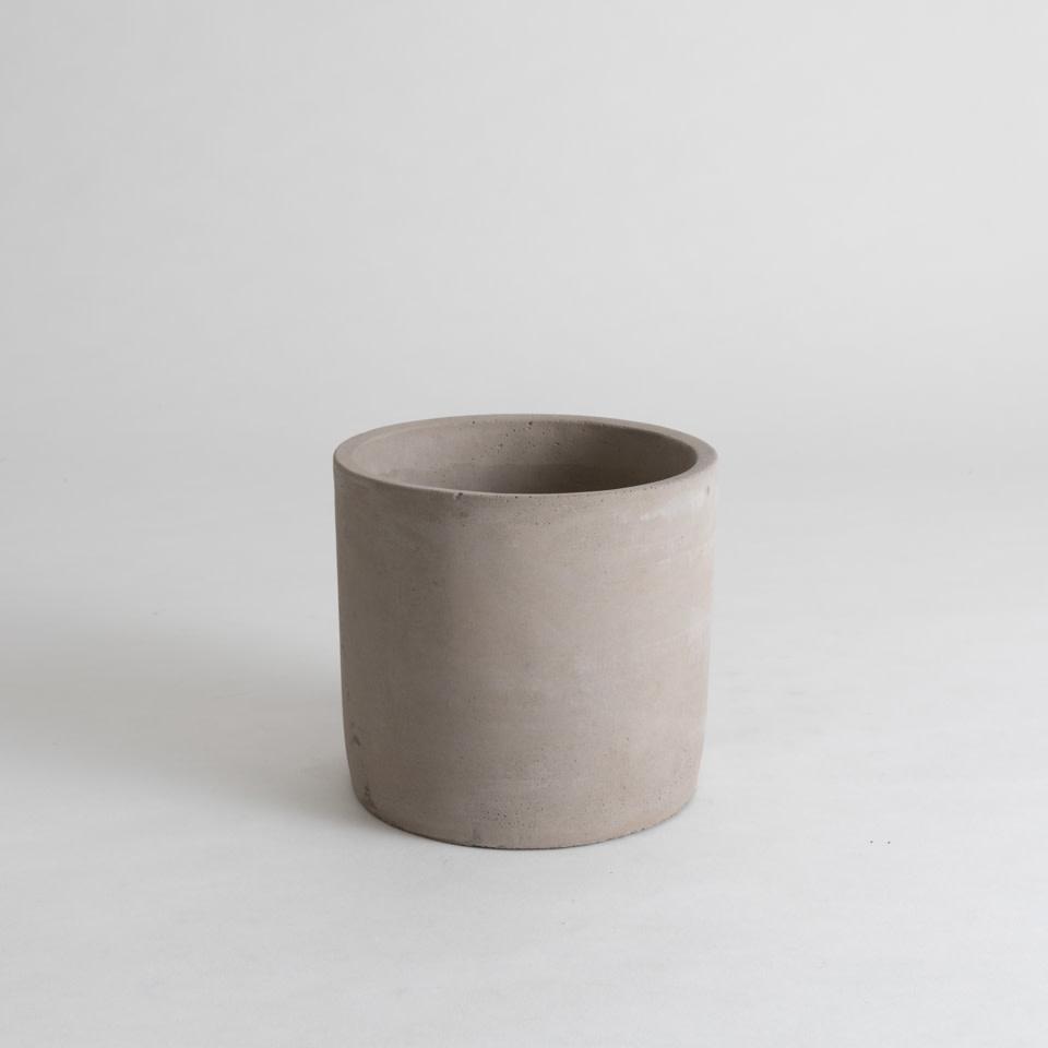"""Concrete Pipe 6"""" Cachepot"""