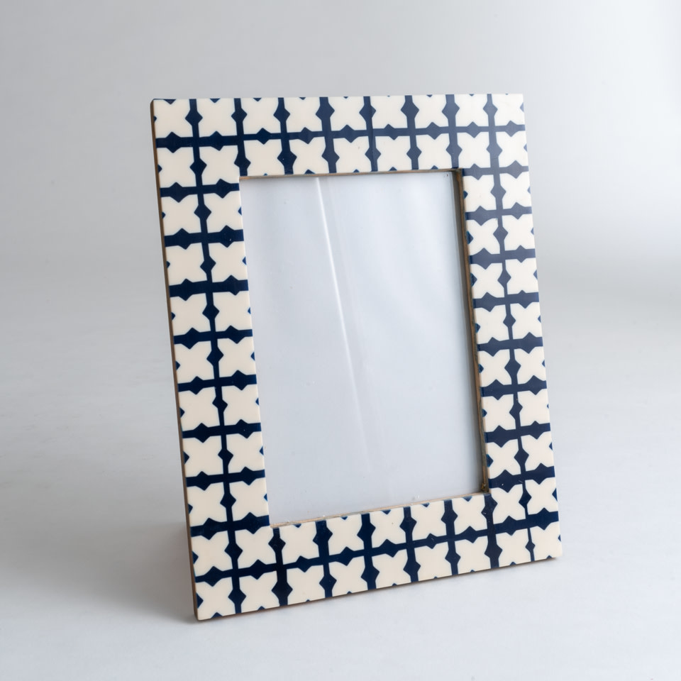 Blue Geo 5x7 Frame