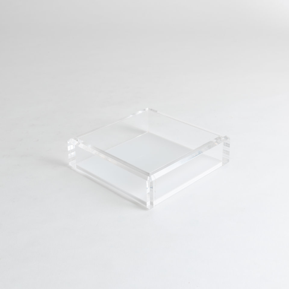 Acrylic Cocktail Napkin Tray {White}