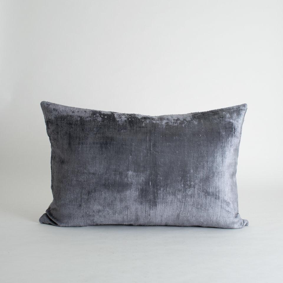Cape Silk + Velvet Lumbar Pillow Cover