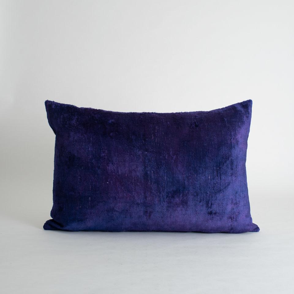 Santorini Silk + Velvet Lumbar Pillow Cover