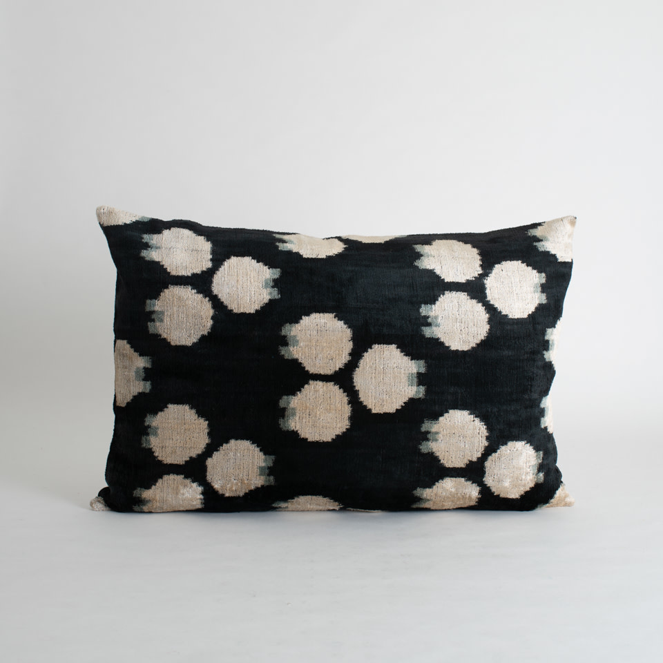 Tate Silk + Velvet Lumbar Pillow Cover