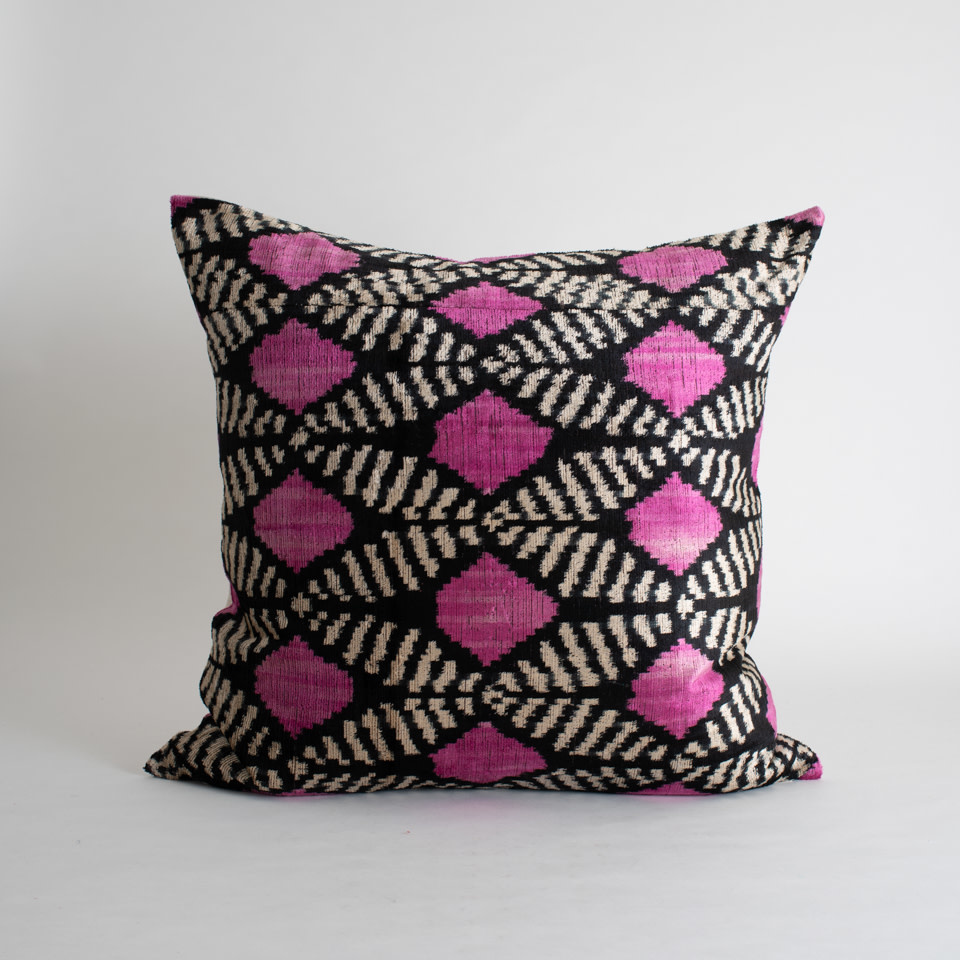 "Triennale Silk + Velvet 24"" Pillow Cover"