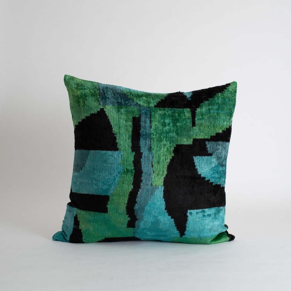 "De Pont  Silk + Velvet 20"" Pillow Cover"