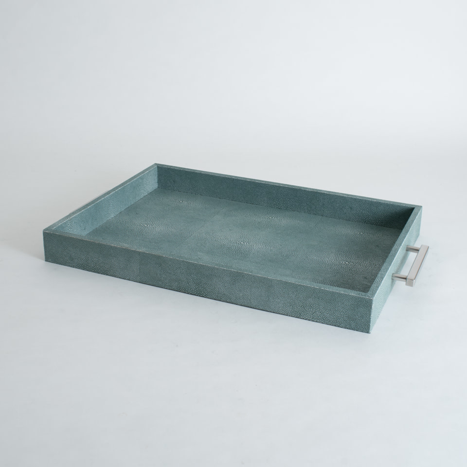 Shagreen Rectangle Tray {Turquoise}