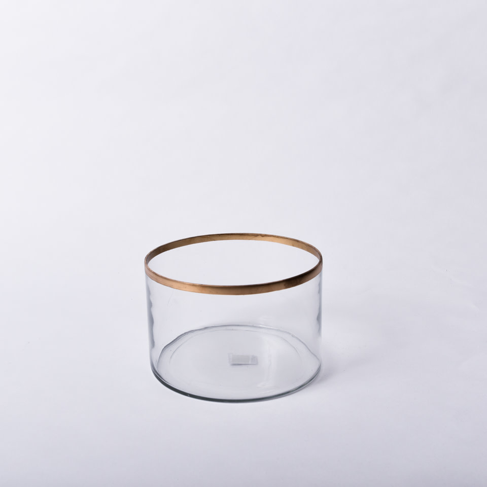 Glass Gold Rim Vases