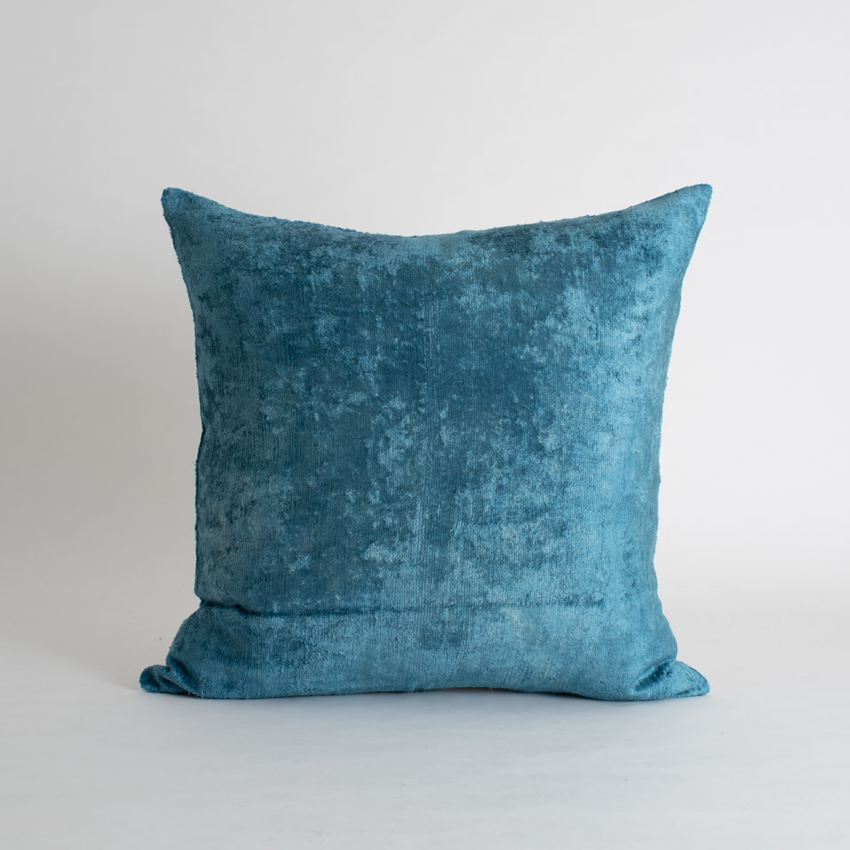 "Coast Silk + Velvet 20"" Pillow Cover"