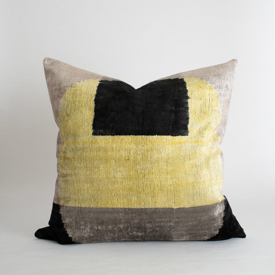 """Solar Eclipse Velvet + Silk 24"""" Pillow Cover"""