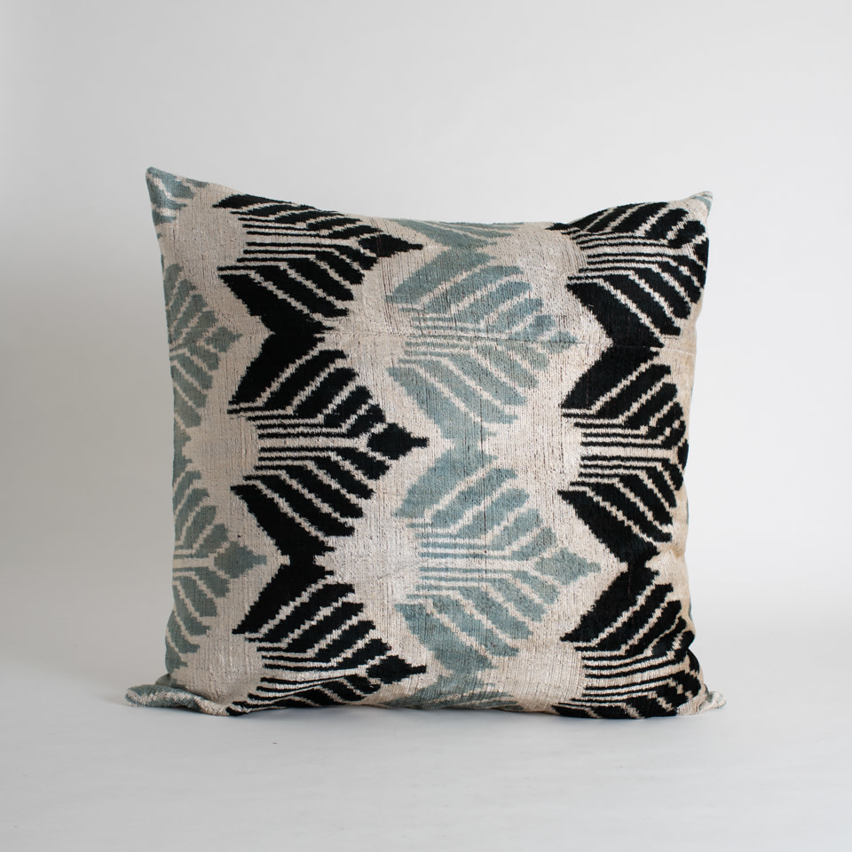 "Tramway Silk + Velvet 24"" Pillow Cover"