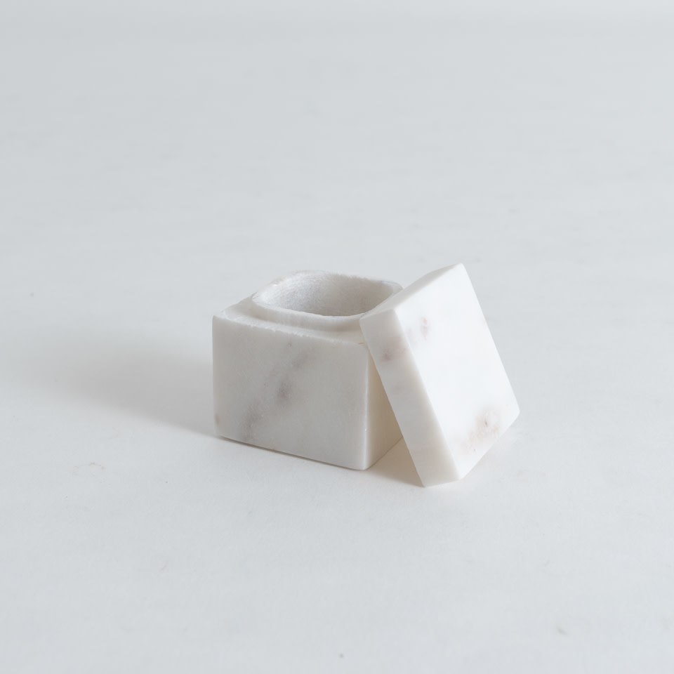 "Marble 2"" Pill Box {Square}"