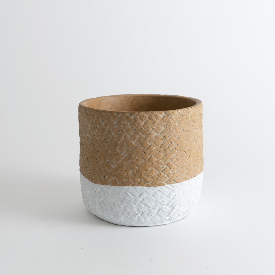 Basketweave Pot