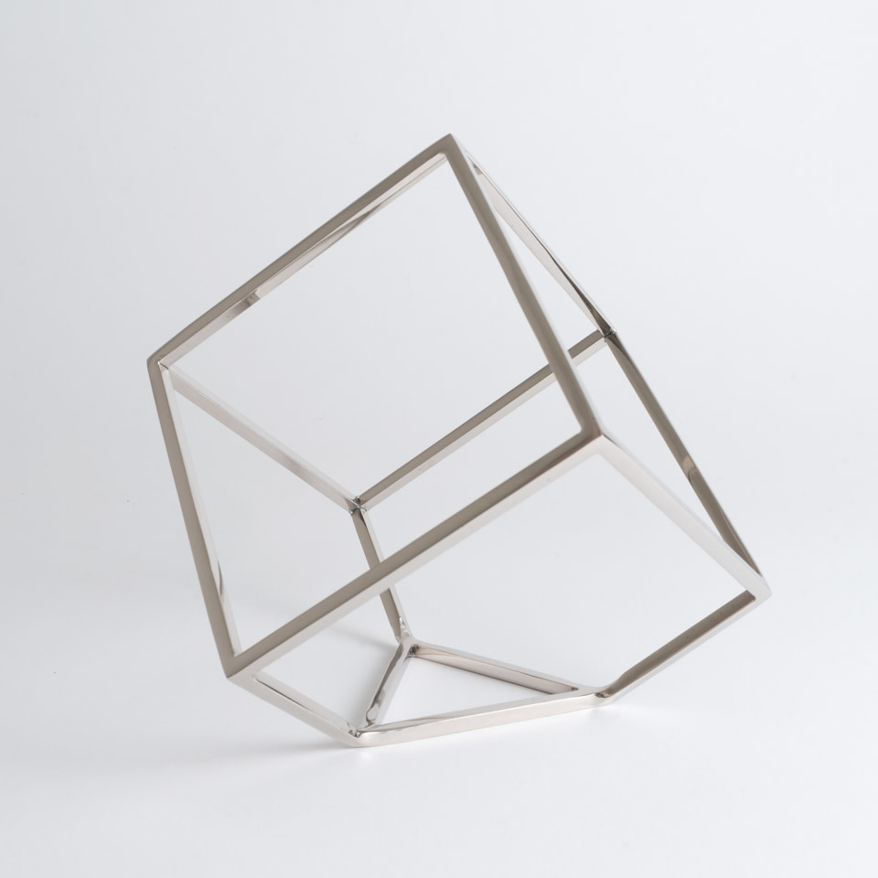 Open Standing Cube (Nickel)