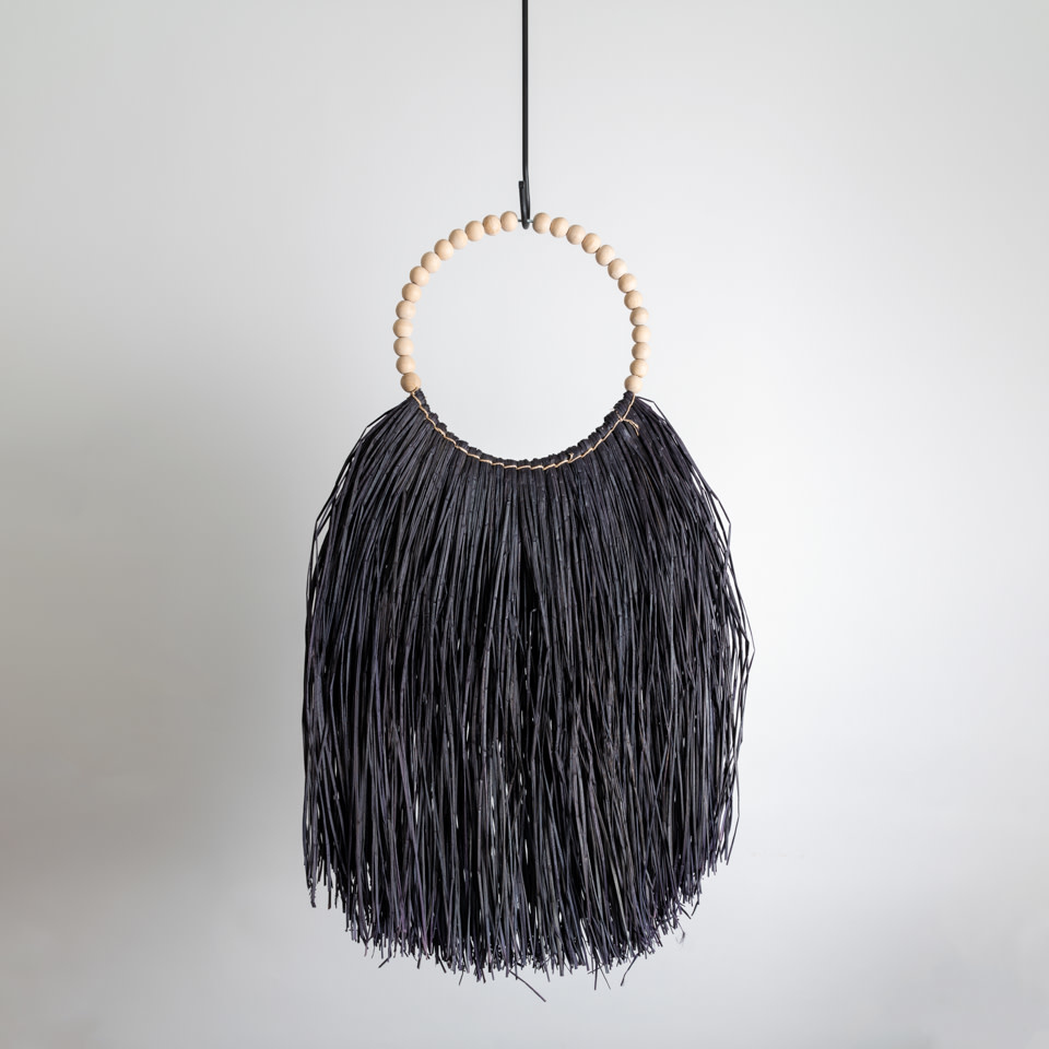 Black Long Grass Necklace