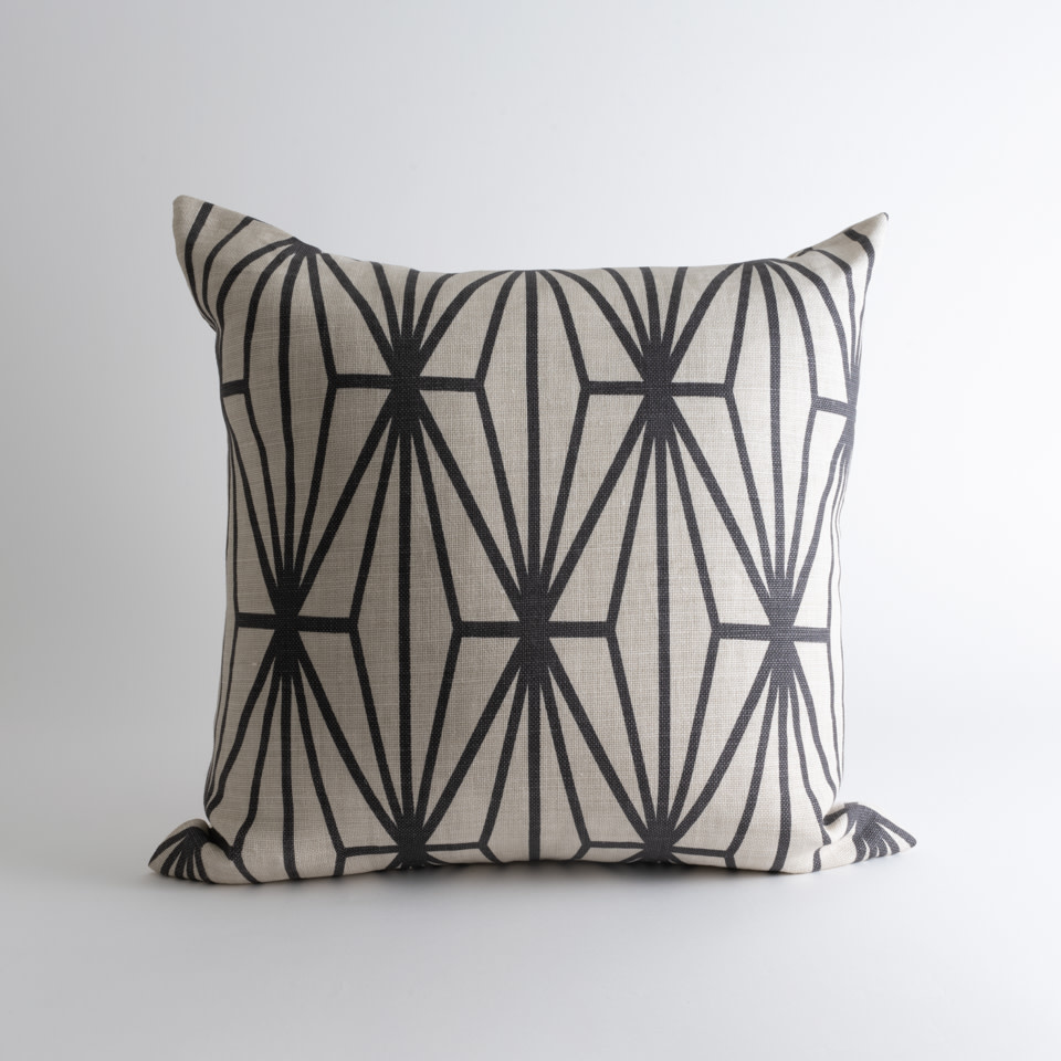 Kelly Wearstler Graffito Onyx/Beige Pillow