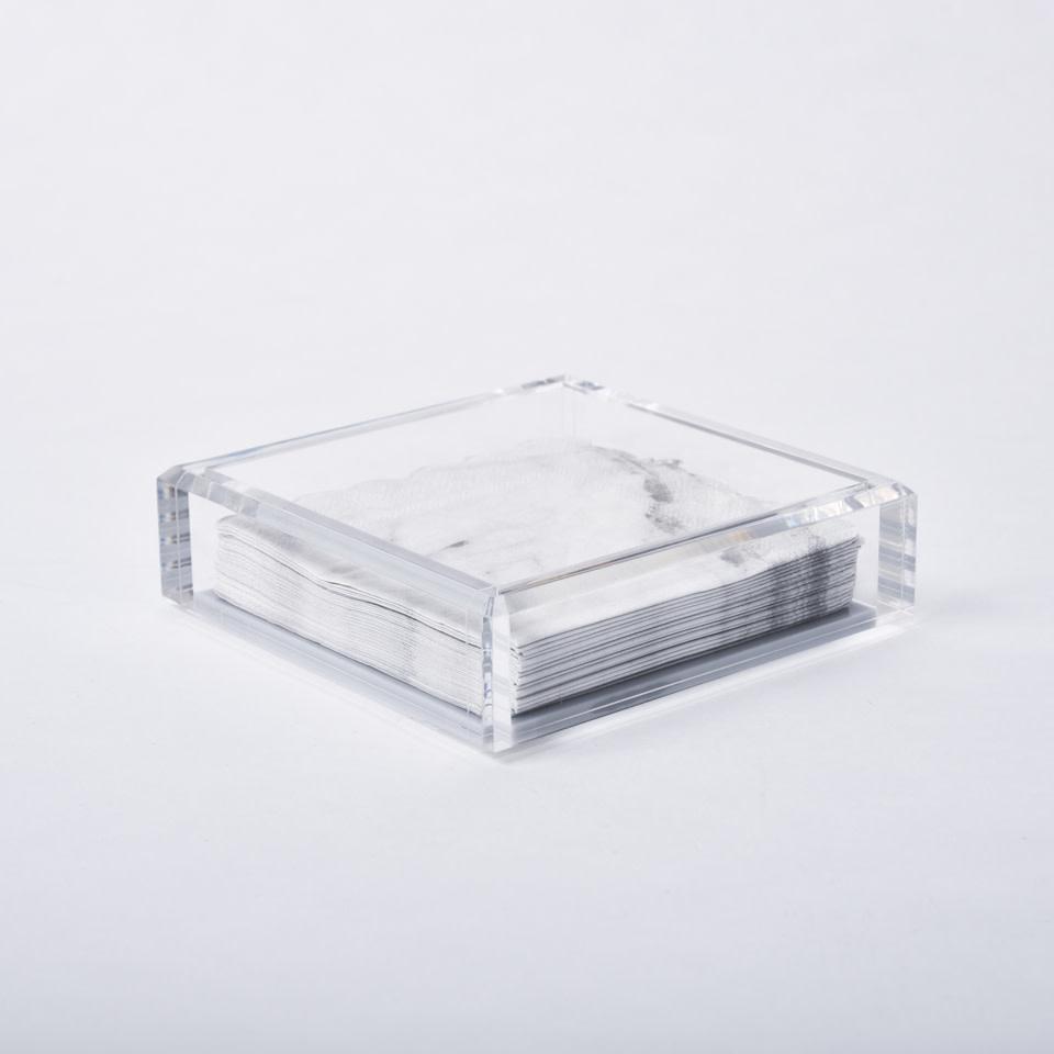 Acrylic Cocktail Napkin Tray {Ice Grey}