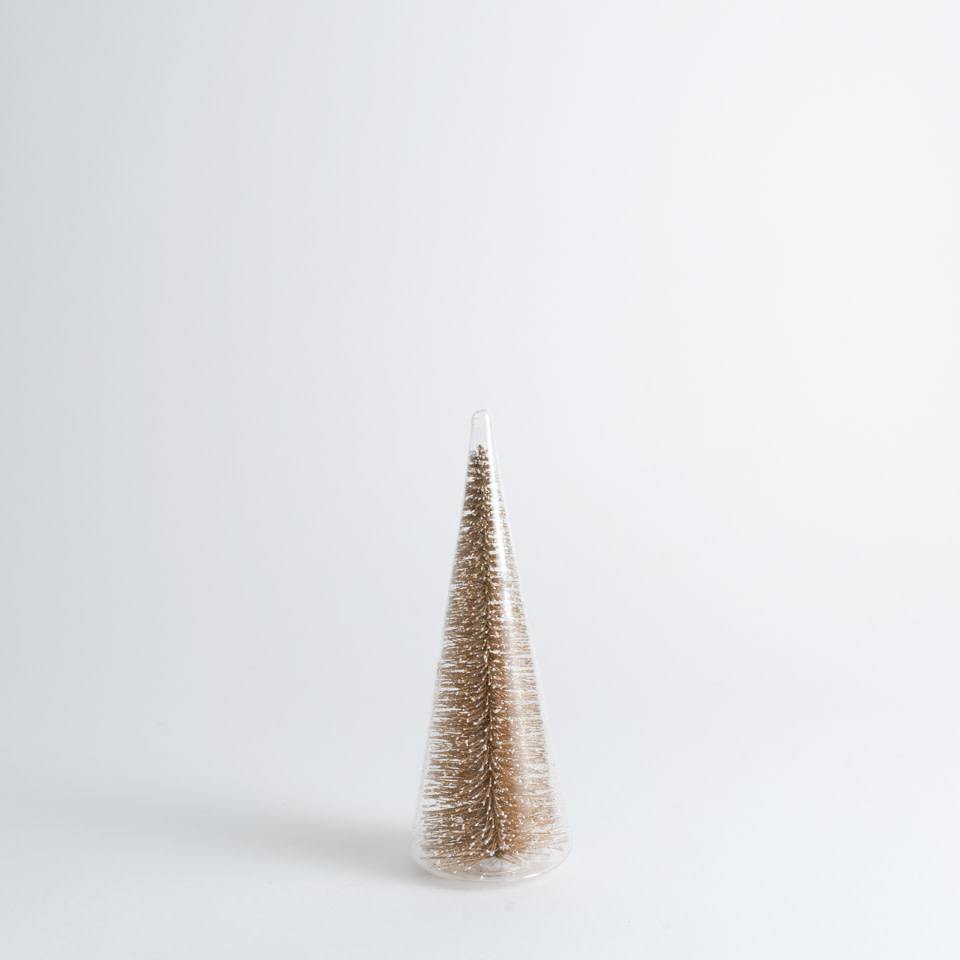 Champagne Luxe Bottle Brush Tree