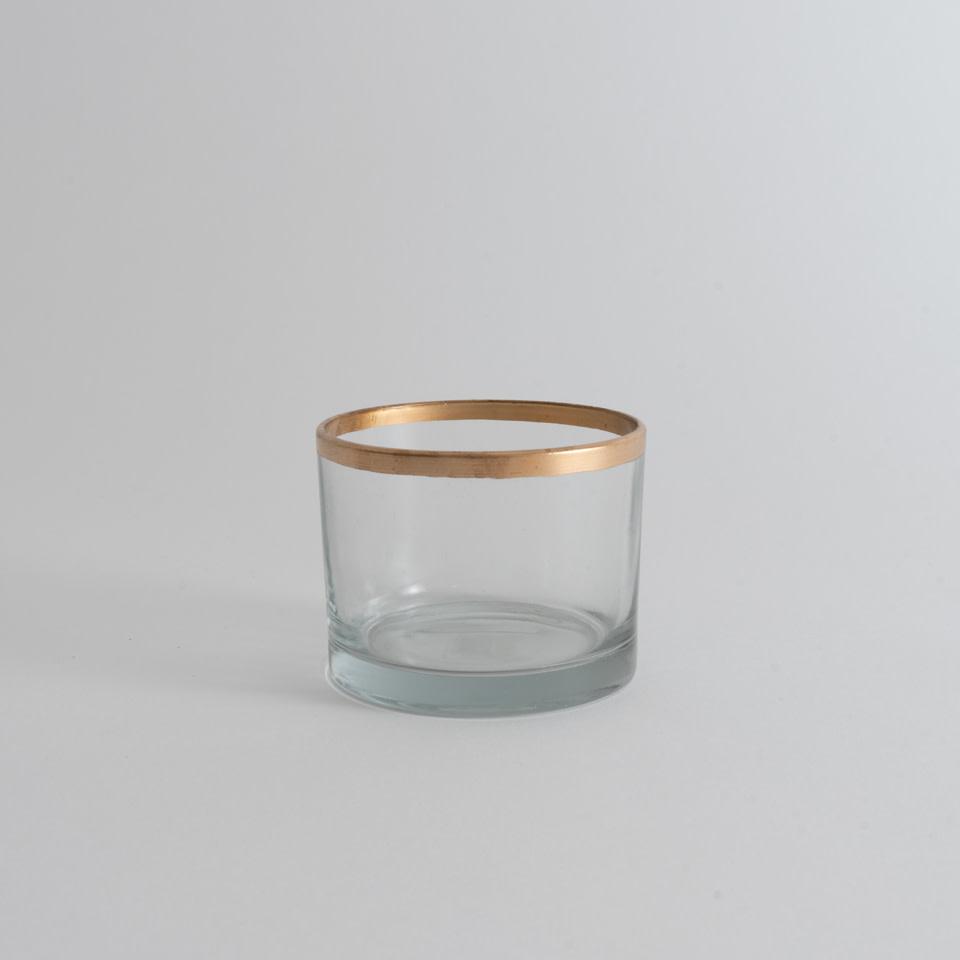 Glass Gold Rim Bowl