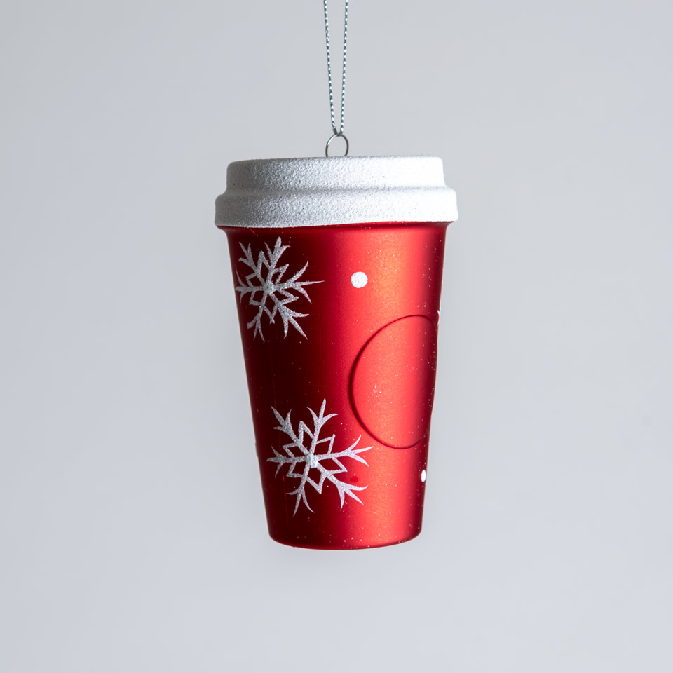 Snowflake Coffee Cup Ornament