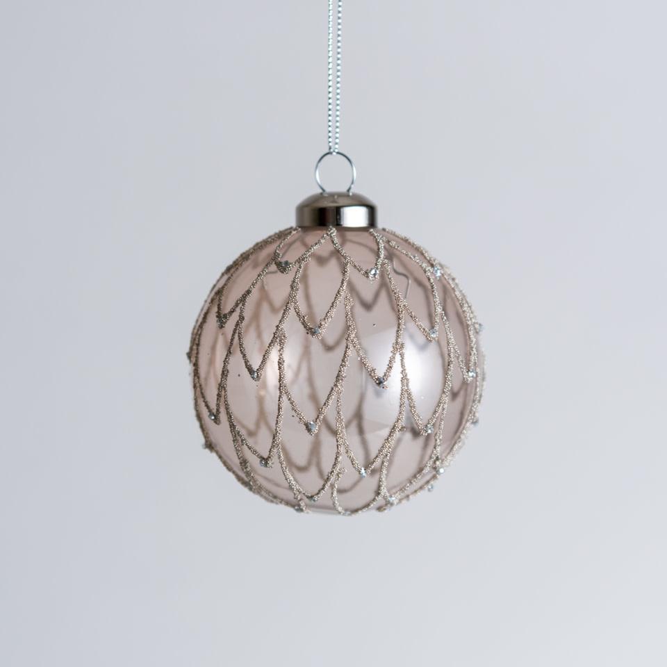 Blush Beaded Ornament