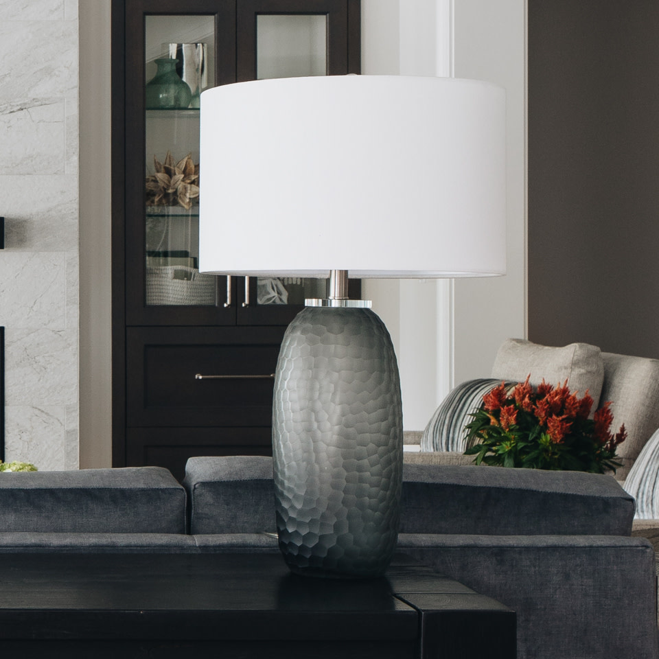 Honeycomb Glass Table Lamp