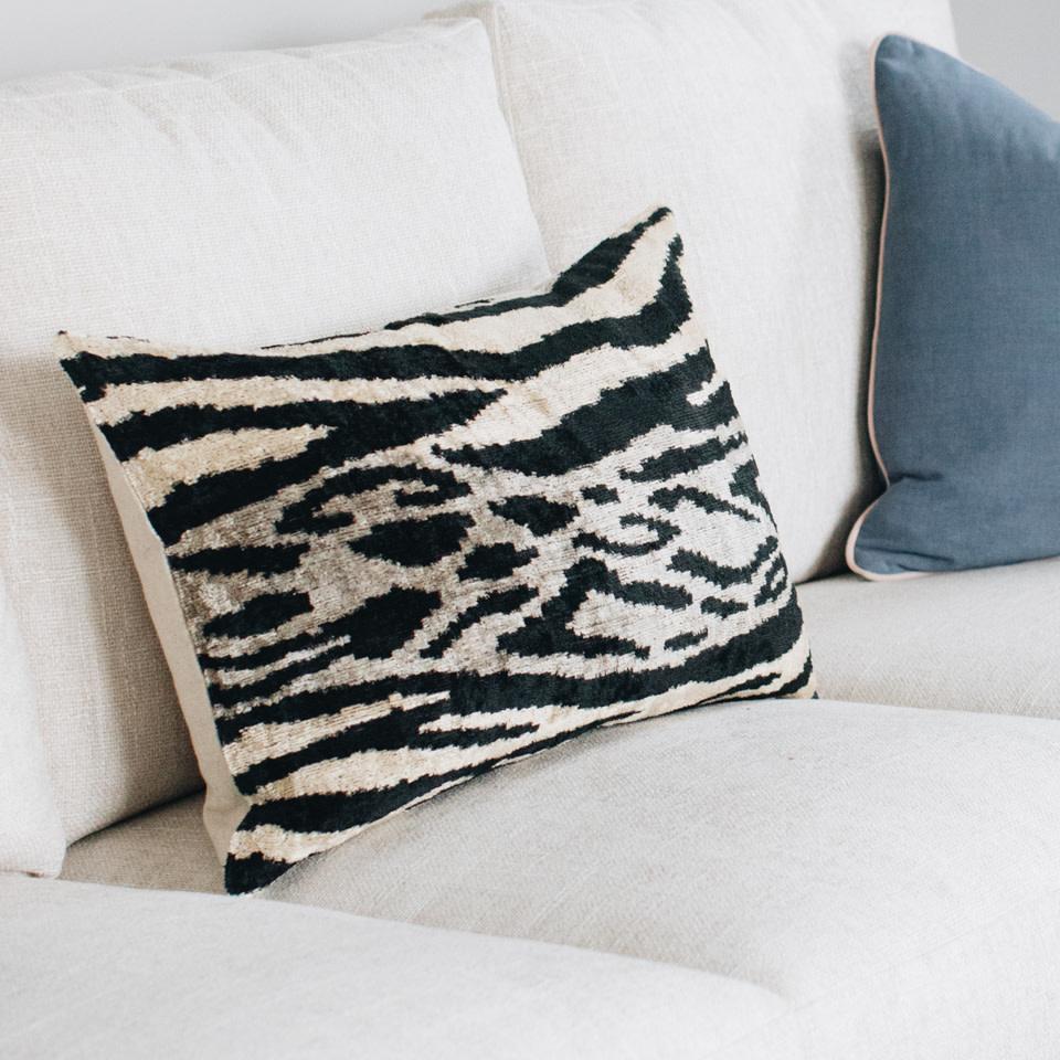 Grevi Silk + Velvet Lumbar Pillow Cover