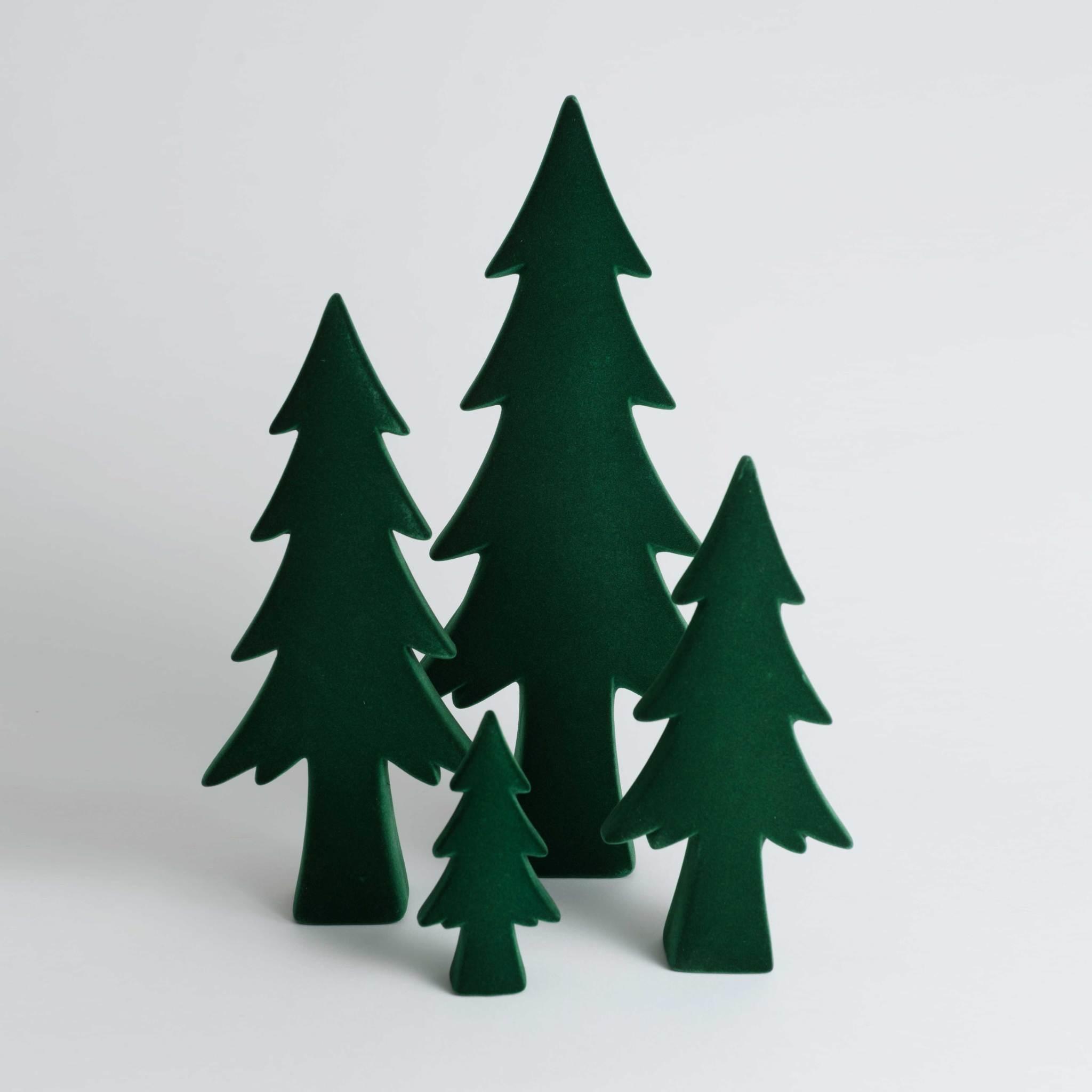 Green Flocked Tree