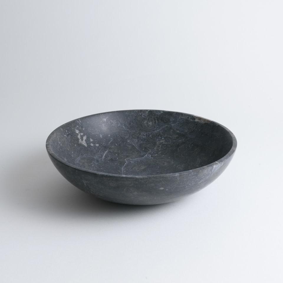 "9.75"" Black Marble Bowl"