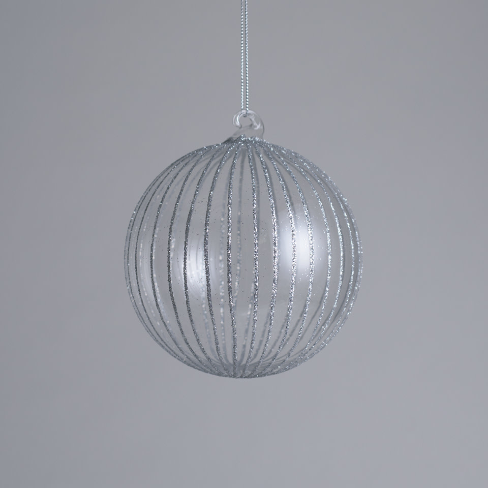 "4.75"" Glitter Stripe Ornament"