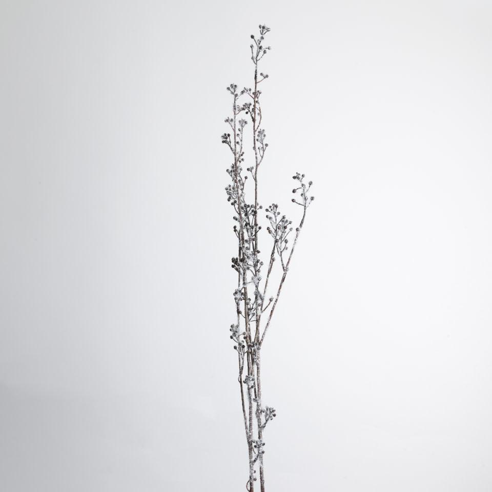 Glittered Berry Spray Branch