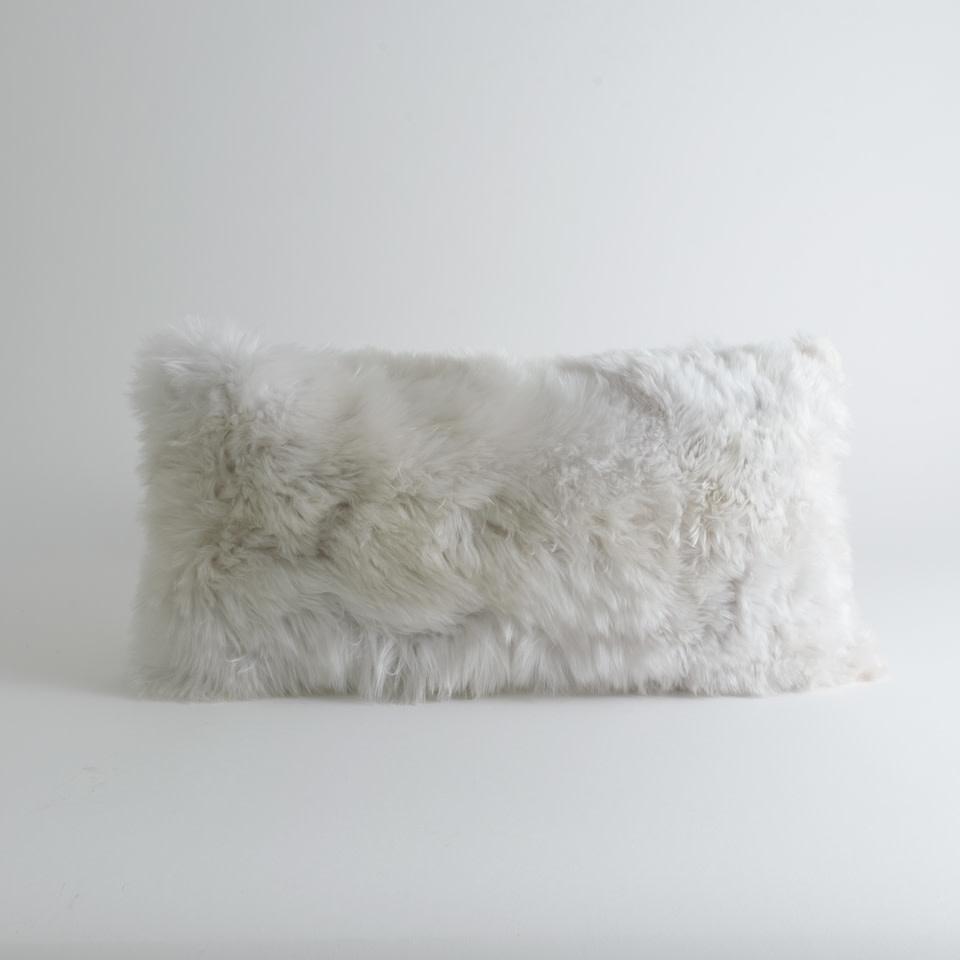 Alpaca Microsuede Ivory Lumbar Pillow