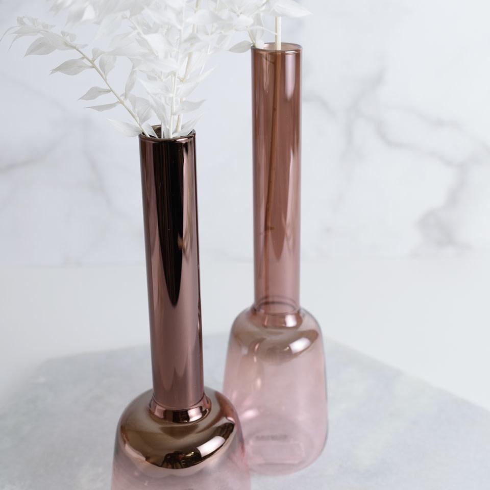 Metallic Blush Luster Vase