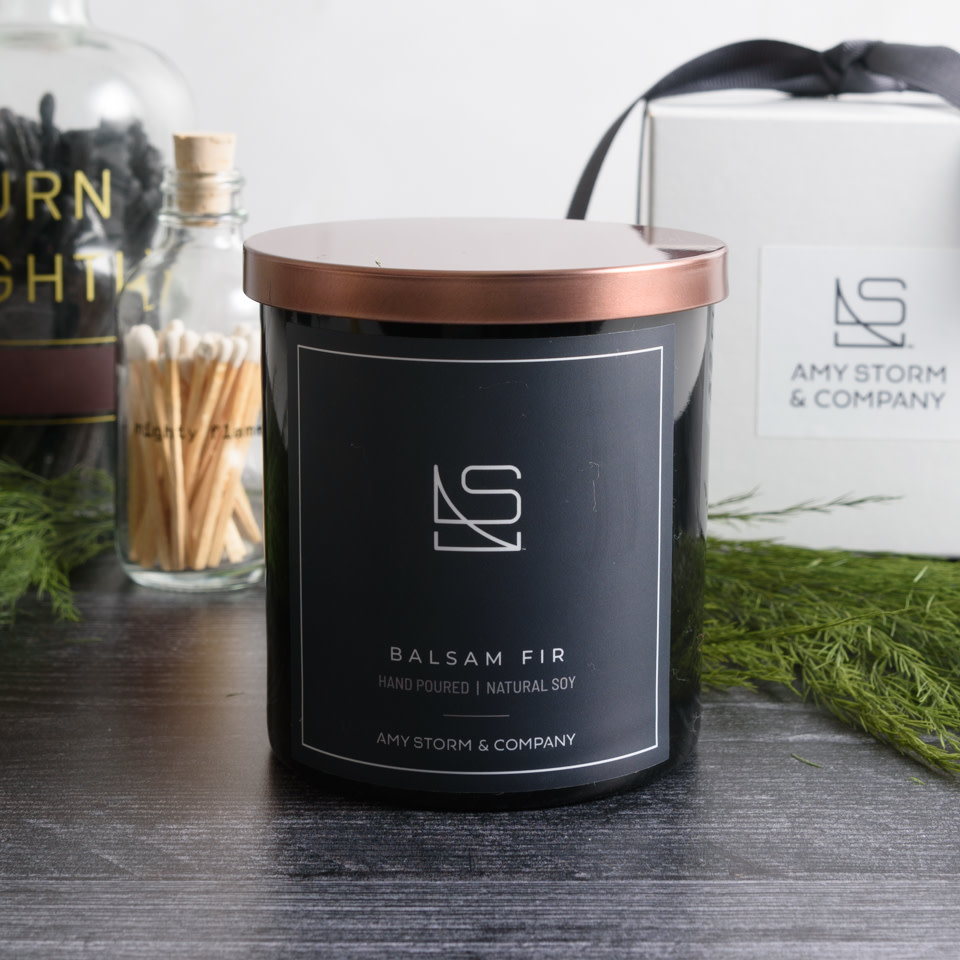 Balsam Fir candle by Amy Storm & Company