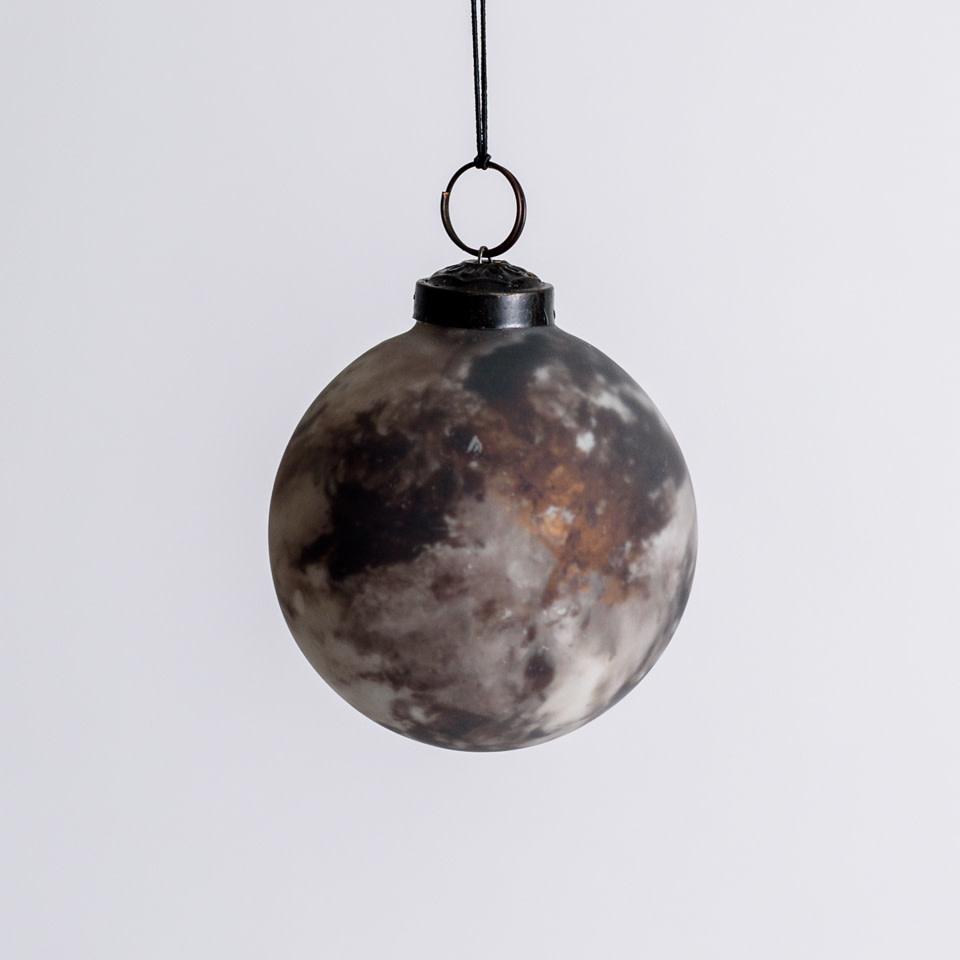 Mocha Marbled Ornament