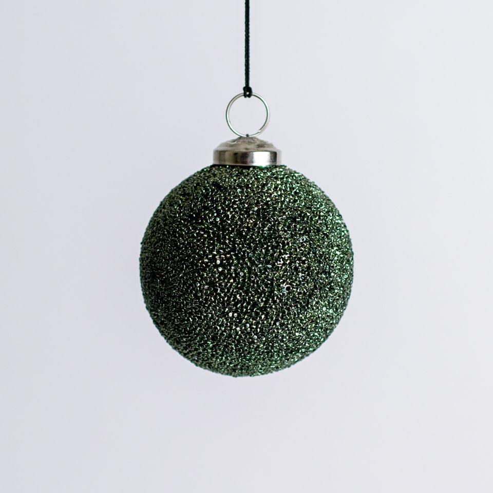 Pine Green Shimmer Ornament